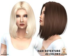 Miss Paraply: Alesso solid hairs retextures � Sims 4 Downloads
