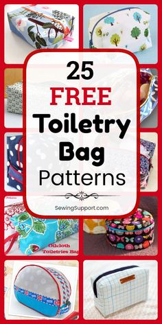 Bag DIY: 25 Free Toiletry Bag Patterns, diy projects, and sewing tutorials. Zipper pouch and easy roll up styles great for men, women, and kids. Great for travel. Instructions for how to make a toiletry bag or dopp kit. Great DIY gift idea. #SewingSupport #Bag #Diy #Pattern #Toiletry #SewingPatterns #SewingProjects
