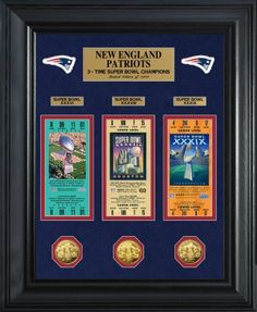 Patriots Replica Super Bowl Ticket & Game Coin Collection. $179.99. New England Patriots Sports Collectibles Man Cave Christmas Gifts Home Decor NFC Made in USA Made in America American Made Buy American. Perfect gifts for New England Patriots Fans. #patriots #NewEnglandPatriots #afc