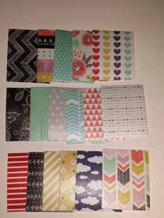 Small Set Shape and Tape Spring Set of 17 washi paper squares for your Erin Condren Life Planner or Filofax