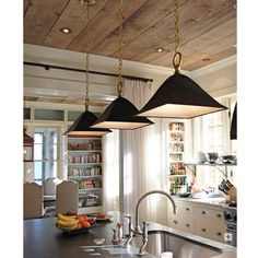 Wood Ceiling - kitchen. this looks so homey and inviting.From ceiling on down.