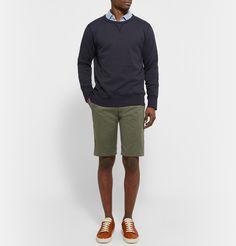 outfit/SS/kakishorts/sweat/shirt/blues/kakhi