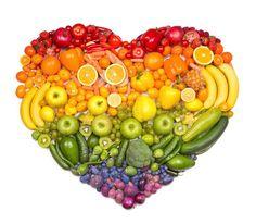 Corazón frutas