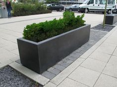 Blyth grey concrete planter