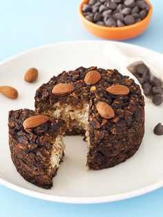 The baked oatmeal version of Almond Joy candy: a coconut filling covered in chocolate, plus almonds! It's National Candy Day! I don't know who makes up these days, or why they'd have Candy Day five days after Halloween. But if it's an excuse to share my love of chocolate for breakfast, then I'm on board. …