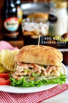 BBQ Ranch Chicken Salad reclipe at TidyMom.net #everydaymarzetti