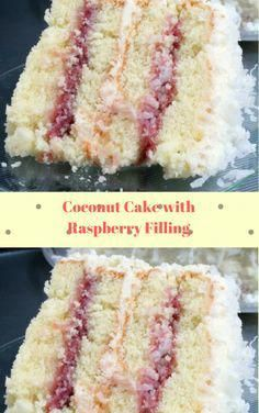 Coconut Cake with Raspberry Filling Coconut cake with raspberry filling Baking Recipes, Cake Recipes, Dessert Recipes, Mini Cakes, Cupcake Cakes, Just Desserts, Delicious Desserts, Vanille Cupcakes, Raspberry Filling