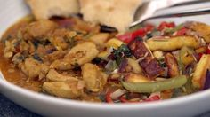 BBC Food - Recipes - Dal chicken with chilli paneer and naan