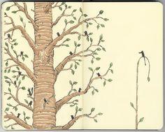 Tree and Bird Sketchbook by Mattias Adolfsson Moleskine Art Journal