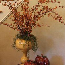 traditional entry Fall Leaf Arrangement in Foyer