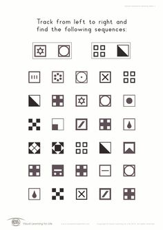 Visual Sequential Memory Activities for Kids. Printable tool for ...