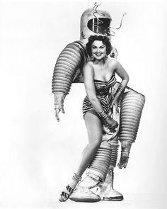 50s sci-fi astronaut woman