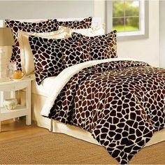 7Pcs Queen Giraffe Animal Kingdom Bedding Comforter Set - $69.99