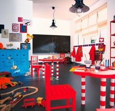 For our next project...the garage turned playroom!