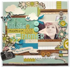 This is scrapbooking love and dedication. Lots of work in this one! And I love the colors. :)