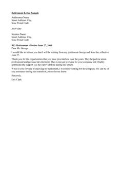 Retirement Letter To Employer Www.livecareer  Retirement  Pinterest  Retirement And Letter .