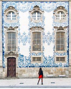 "226 Likes, 4 Comments - Rié Moratto (@portobellodesign) on Instagram: ""Portuguese Azulejos tiles... one of my  L💙ves in Porto, Portugal Via: @liolaliola  #buildings…"""