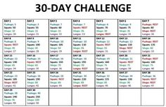 Monthly exercise workout plan #getfitandhealthy