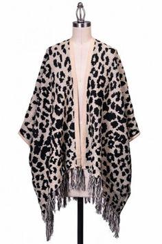 ANIMAL PRINT DROP REFFLE FRINGE TESSEL #salediem wants you to ROAR!Enjoy your #animalprint #fall#fashion Shipping is FREE!