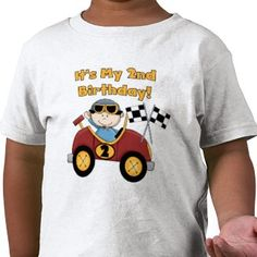 Image detail for -Red Race Car 2nd Birthday Tshirts and Gifts by kids_birthdays