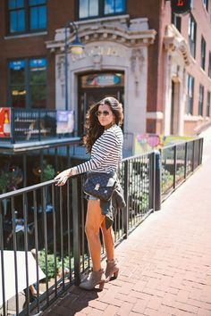 long sleeve tee with shorts and booties