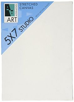 Art Alternatives 5 x 7 inch Pre-Stretched Studio Canvas (Pack of 5 Canvasses)