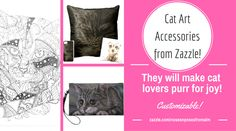 Love cats? Need a gift for a cat lover? Beautiful cat accessories from Noses 'N Poses are customizable! Shop now at zazzle.com/nosesnposesfromalm