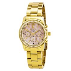 Invicta 11772 Women's Angel MOP Dial Gold Plated Steel Watch,    #Invicta,    #Invicta11772
