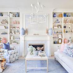 Desi Rug in Sky – Caitlin Wilson My Living Room, Home And Living, Living Room Decor, Living Spaces, Pastel Living Room, Blue And Pink Living Room, Living Room Inspiration, Living Room Designs, Family Room