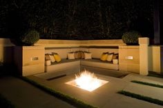 ➤Outdoor Living Spaces With Fireplace 19 Firepit Benches by www.home-designing.com