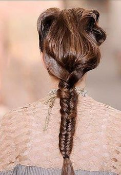 Long Dark Brown Braid for Homecoming and Prom Hairstyle - Homecoming Hairstyles 2014 Fishtail Braid Hairstyles, Braided Hairstyles Tutorials, Hairstyle Ideas, Popular Hairstyles, Girl Hairstyles, Long Brunette, Hair Styles 2014, Cool Braids, Homecoming Hairstyles