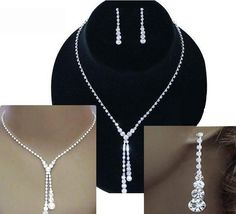 Amanda Crystal Rhinestones Water Drop Jewelry Sets for Brides, Wedding Gifts