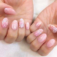 """恋する色♡""""ピンクカラー""""の姫ネイルカタログ♡にて紹介している画像"""