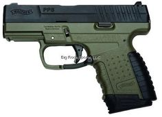 Walther PPS 9MM, Military OD Green. Choice 6/7/8 round mag  #Daincityarms Daincityarms.com