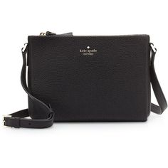 kate spade new york holden street lilibeth crossbody bag ($248) ❤ liked on Polyvore featuring bags, handbags, shoulder bags, black, black crossbody, leather shoulder bag, kate spade handbag, leather crossbody and kate spade crossbody