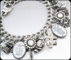 Choose your own quotes Charm Bracelet by BlackberryDesigns on Etsy, $145.00