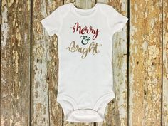 Merry & Bright. Holiday Shirt