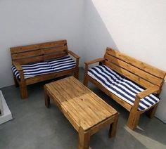 Sillones para terraza con mesa