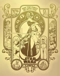 star wars mucha | Star Wars Art Nouveau