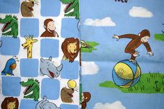 Vintage Curious George Fabric