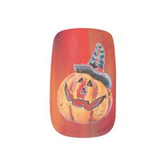 Halloween Pumpkin Minx Nail Art Minx Nail Art #Pumpkin #Halloween #Nails #Fashion