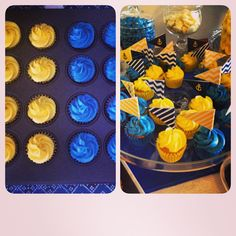 It's been a while since I used Instagram and upload! Although I haven't stop baking and cake decorating! I shall start with my most recent goodies, babyshower cupcakes for my brother and sister in law. Love how the colours pop out and didn't listen to my friend in doing opposites! The theme was nautical babyshower with yellow, navy blue and white. Yeah blue came out more royal blue instead haha!