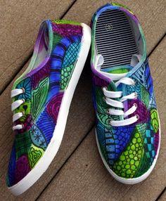 Zentangle sneakers!!