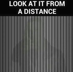 Love Life Optimistic Quotes: Optical illusion - look at it from a distance Illusions Mind, Funny Illusions, Optical Illusions Pictures, Illusion Pictures, Cool Optical Illusions, Eye Tricks, Brain Tricks, Funny Mind Tricks, Illusion Photography