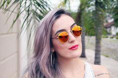 summer sunglasses - orange glasses - granny hair - óculos arredondado - RayBan laranja