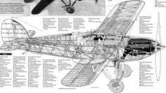 Aircarft Cutaway - It looks like a triple tail