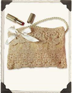 Victorian Trading Co Ivory Floral Lavish Lace Purse Miss Rose Sister Violet New | eBay