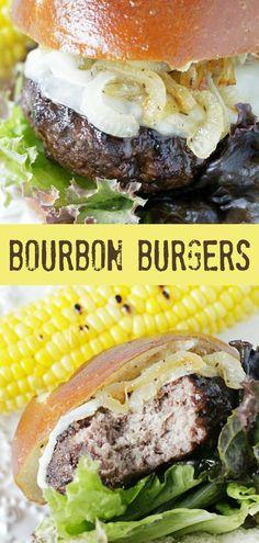 Bourbon Burgers | Foodtastic Mom #burgerrecipes #burger #bourbon