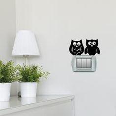 Gufetti Cute Owls Adesivo per interruttore, spina, placca - Light Switch Sticker
