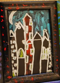 Art Club Reverse Painting on Glass Silver Sharpie, Wassily Kandinsky, Its A Wonderful Life, Art Club, Beautiful Paintings, Art Techniques, Teaching Resources, Folk Art, Art For Kids